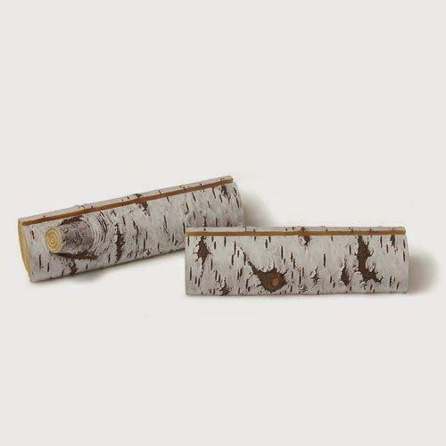 96 Faux Birch Log Card Holders