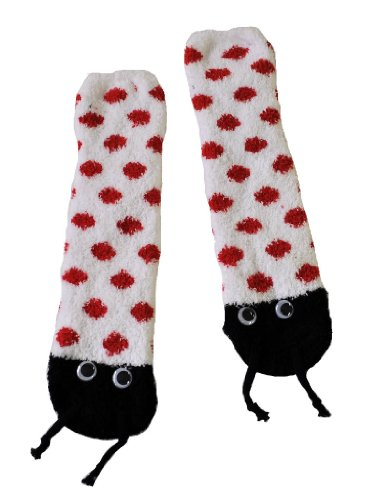 RSG Soft and Cuddly Animal Slipper Socks With Grips (Ladybug)