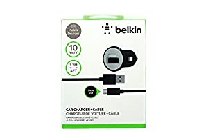 Belkin MIXIT Car Charger with 4-Foot Micro USB Charging Cable (2.1 Amp),Retail Packaging, Black from Belkin Inc.