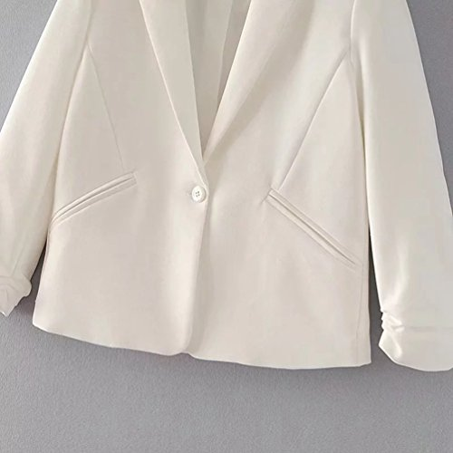 Business Female Wanyang Pour Wear Femme Survêtement Unique Bouton Veste De Blanc 88Pwq7