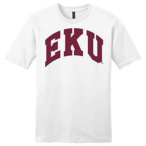 Sweatshirt White Kentucky - Campus Merchandise NCAA Eastern Kentucky Colonels University Arch Soft Style T-Shirt, X-Large, White
