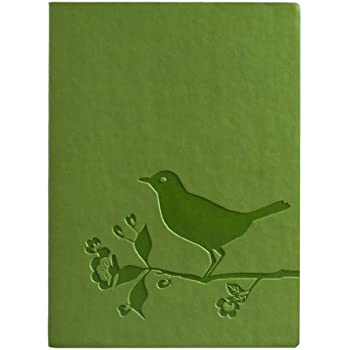 Eccolo Essential Collection 5 x 7 Inches Lined Journal, Bird and Flower