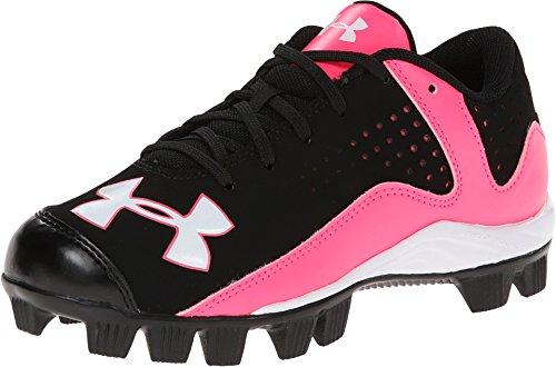 Girls Under Armour Leadoff Low RM Softball/Baseball Cleats Black/Cerise Size 4 M US