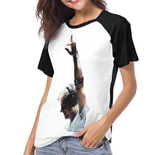 (Armin Van Buuren Women Music Baseball Short Sleeves Tee Raglan Sleeve Shirts M Black)