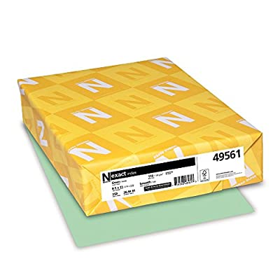 Neenah Exact Index, 110 lb, 8.5 x 11 Inches, 250 Sheets, Green