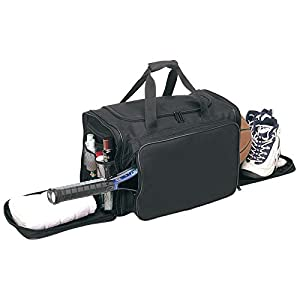 "ImpecGear 21"" Gym Travel Tennis Equipment Bag Basketball Equipment Duffle Bag W/ Shoe Storage (BLACK 1)"