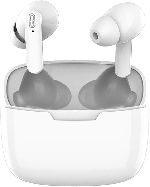 Auriculares Inalámbricos,TWS Bluetooth 5.1 Auriculares Bajo estéreo con Micrófono IPX5 Impermeable Carga con Caja de Carga Portátil Auriculares in Ear para iPhone/Android/Airpods Samsung