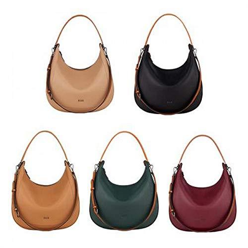 ELLE Rosée Hobo Bag, Anywhere Tote 2Way Strap Shoulder Bag, Casual Daily Bag, Vegan Leather (Deep Green)