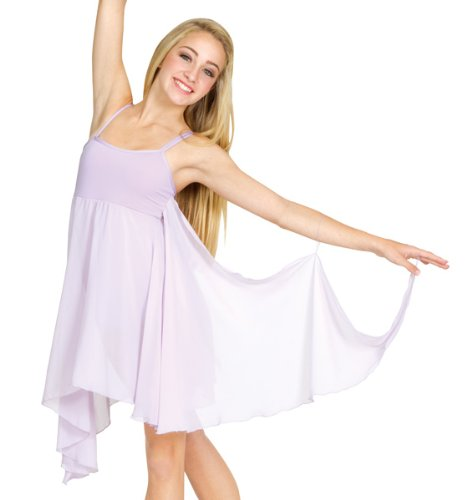 Adult Asymmetrical Dress,7895WHTS,White,Small by Body Wrappers