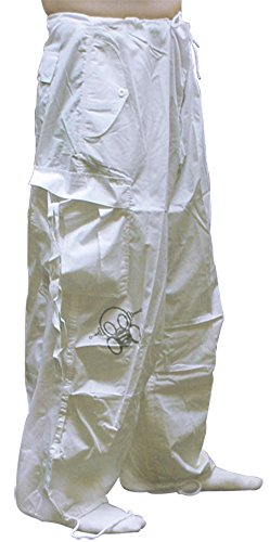 Ghast Unisex Cargo Drawstring Rave Dance Pants, Basic White Medium (Dancing Machine Mc Hammer)