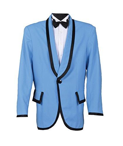 Gangnam Style Or 50s Crooner Doo Wop Jacket (Large, Light Blue) (Gangnam Style Costume)