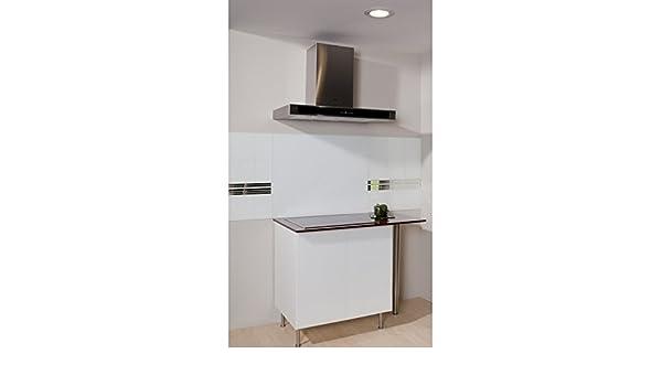 Fondo de campana – blanco ALPIN mate – 70 cm x 60 cm (HxL): Amazon.es: Hogar