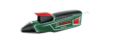 Bosch GluePen - Pistola de pegar a batería (cargador microUSB, 4 uds. de adhesivo Ultrapower, caja de cartón, 3,6 V)
