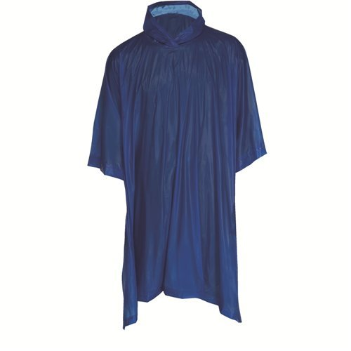 All Weather Blue Hooded Rain Poncho 50