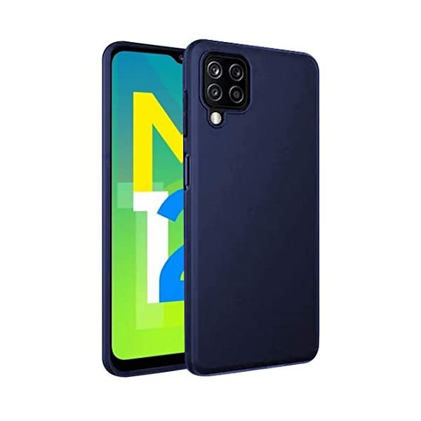 Amazon Brand - Solimo Mobile Cover for Samsung Galaxy M12 (Soft & Flexible Back case), Blue 2021 August Snug fit for Samsung Galaxy M12, with perfect cut-outs for volume buttons, audio and charging ports Compatible with Samsung Galaxy M12 Durable, soft and flexible back case, Tear and slip-resistant