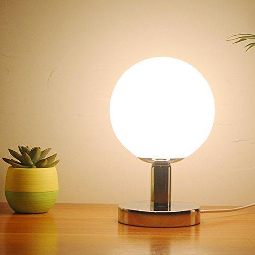 HYW Tischleuchte-Lampe Schlafzimmer Bettlampen kreative Kurze über LED-Licht Plug-Eye-Schutz-Studie elektrische Leselampe Dimmen stilvolle Gartenlampe