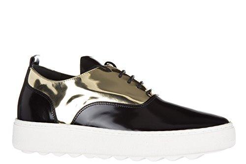 Philippe Model zapatos zapatillas de deporte mujer en piel nuevo bombay negro