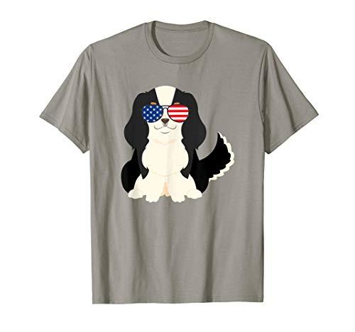 4th of July Cavalier King Charles Spaniel Dog Patriotic USA T-Shirt