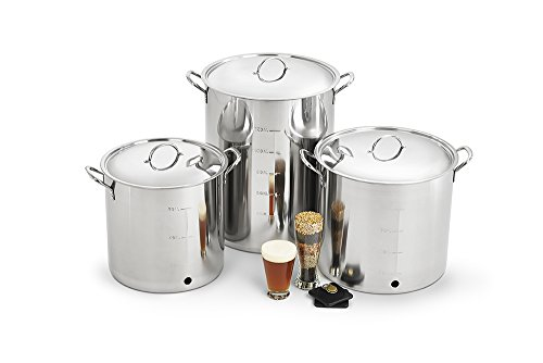 Polar Ware Stainless Steel Brew Kettle with Cover, Ball Valve and Bulkhead, 30-Quart by Polar Ware (Image #4)
