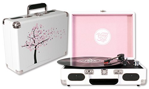 Vinyl Styl Groove Portable 3 Speed Turntable (Cherry Blossom)