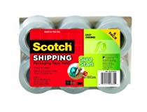 Scotch Sure Start Packaging Tape, 1.88 Inches x 900 Inches, 1 1/2 inch core (6-Pack)