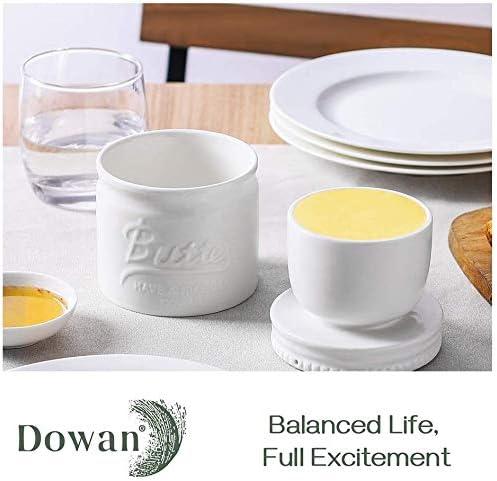 DOWAN Burriera in porcellana Mason Jar bianca