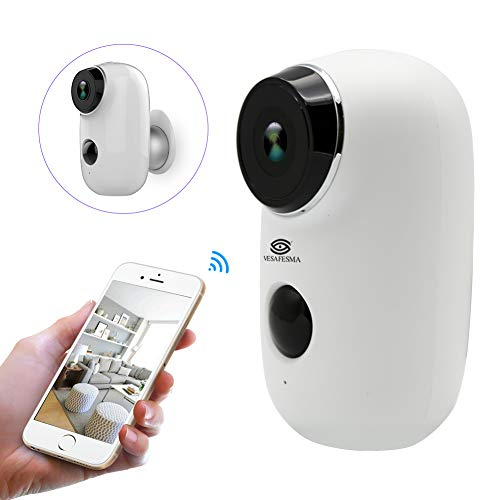 Wifi Security Camera Home Camera Rechargeable Battery Power Operated 6000mah Indoor Outdoor Night Vision PIR Motion Detection 2-Way Audio Video Weatherproof for Baby/Elder/Pet/Nanny Cam Monitor