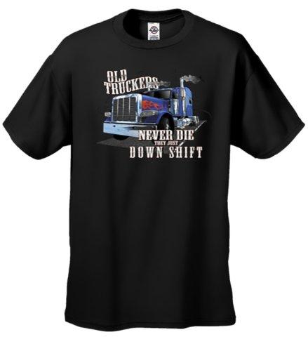 Old Truckers Never Die (Old Truckers Never Die They Just Down Shift T-shirt-black-5xl)