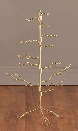 Stand Branch - Ornament Tree Christmas Décor/ Jewelry and Accessory Display in Gold Finish - 27