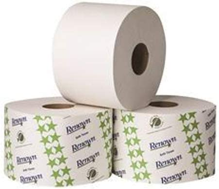 """Renown REN06125-WB 2-Ply Controlled-Use Bath Tissue with Opticore, White, 865 Sheets Per Roll, Plastic, 11.9"""" x 22.3"""" x 16.7"""" (Pack of 36)"""