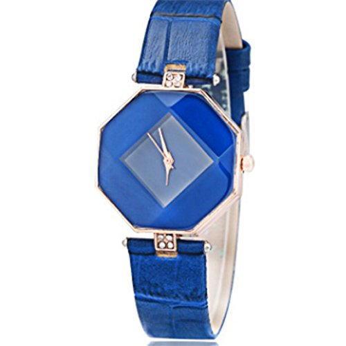 New Watch Design (TraveT PU Leather Wrist Watch Rhombus Rhinestone Quartz Watch Women Fashion Analog Wrist Watch Unique Watches)