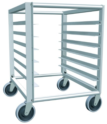 Bun Load Rack Pan (Lockwood RA30-ER6E Aluminum Counter Height End Load Economy Mobile Pan Rack with Stem Caster, 6 Tray Capacity, 21-3/8