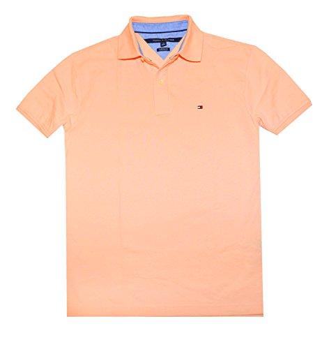 Tommy Hilfiger Men's Classic Fit Polo T-shirt, Apricot, XL