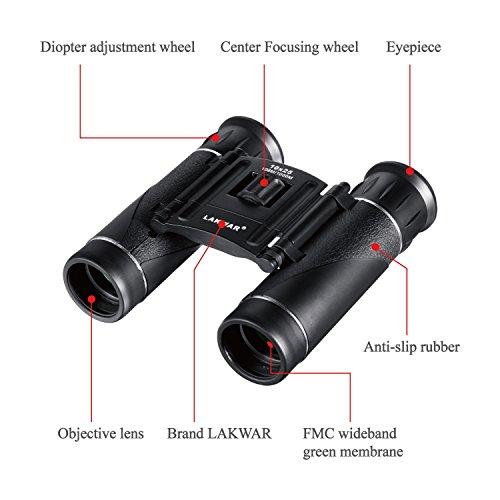 Lakwar Binoculars For Kids Compact 10x25 Powerview