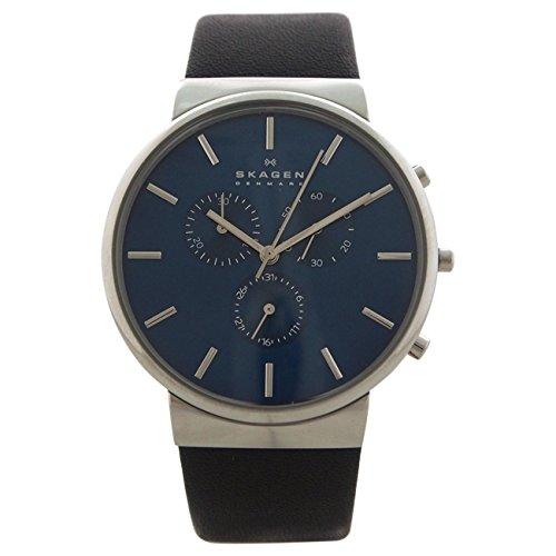 Skagen Men's SKW6105 Ancher Black Leather Watch from Skagen