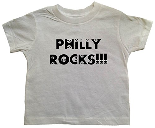 PHILLY ROCKS!!! - BigBoyMusic Toddler Designs - White Toddler T-shirt - size Small (2T) (Philly Rocks)