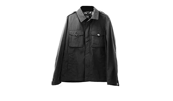 333eb233c Amazon.com: Hugo Boss Black Label Cheleste 1 Black Military Jacket: Clothing