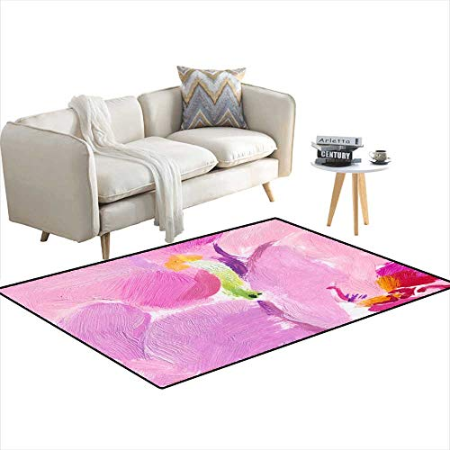 (Area Rugs for Bedroom Abstract BackgrounGreen on Pink Genesis 48