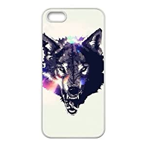 Wolf Face iPhone 5 5s Cell Phone Case White THZ