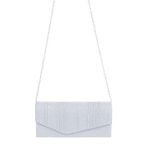 Ital-Design - Cartera de mano para mujer plata