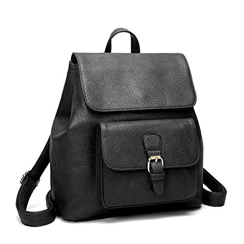 New Bag 2018 Tide Pu Girl Street Mochila Bisser Fashion Negro Bag Wild Mujeres semplice tqIP1XZwn1