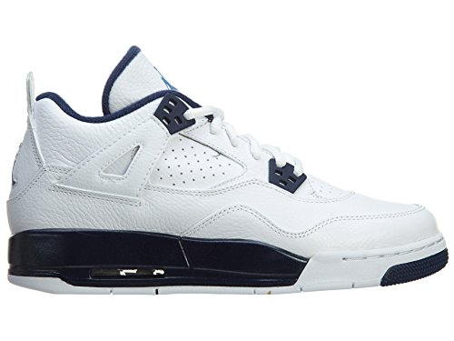 Nike Air Jordan Männer 4 Retro Basketballschuh Weiß / Legend Blue / Midnight Navy
