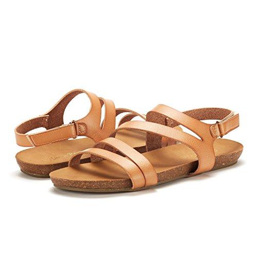 DREAM PAIRS Women's Bold Slingback Flat Sandals