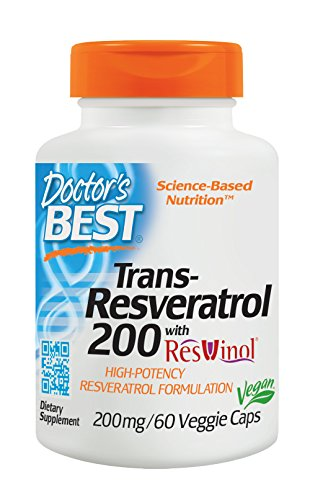 Doctor's Best, Trans-Resveratrol with ResVinol, Non-GMO, Vegan, Gluten Free, Soy Free, 200 mg, 60 Veggie Caps Review
