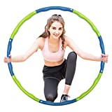 Liberry Hula Hoops Adults- Weighted Hula Hoops exercise-2lb,8 Sections Detachable & Adjustable Design-Professional Adult Hula Hoop Weight Loss, Fitness,Workout