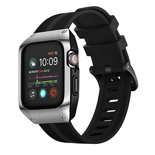 Amazon.com: HATALKIN Compatible with Apple Watch Band Case ...