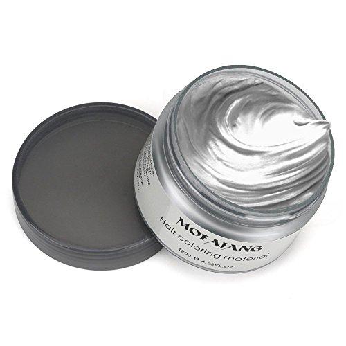 Mofajang Hair Wax Dye Styling Cream Mud, Natural Hairstyle Color Pomade, Washable Temporary, Gray by MOFAJANG (Image #2)