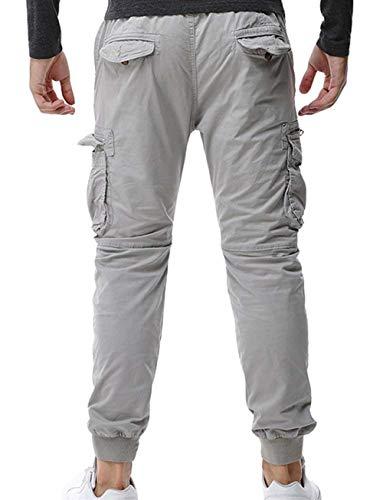 Cargo Unie Ample Cool Vêtements Pantalon Tailles Automne Hellgrau Occasionnel Hommes Confortables Taille Printemps Coupe Couleur HFHwnBdYq