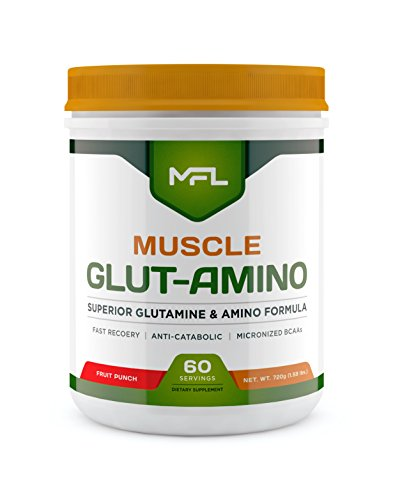 MUSCLE FOOD LABS Muscle GLUT-AMINO ★ Glutamine & Amino Blend (Fruit Punch) (Labs Amino Blend)