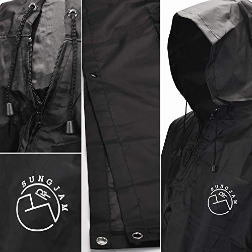 SUNGJAM Rain Poncho with Travel Pouch | Two Over Door Metal Hooks for Drying by SUNGJAM (Image #1)
